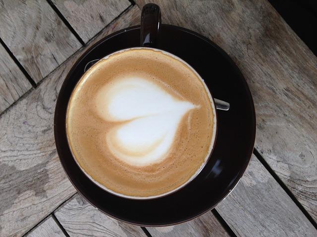 káva, presso, latté