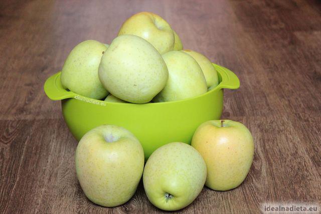 zdrave zelene jablka